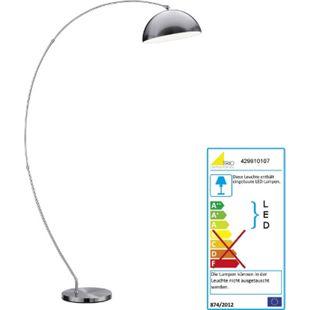Trio Osram LED Bogenlampe RL178, Stehleuchte Standleuchte Bogenleuchte, 183cm EEK A+ 18W - Bild 1