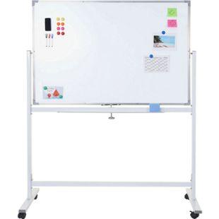 Whiteboard MCW-C85, Magnettafel Memoboard Pinnwand, mobil rollbar inkl. Zubehör ~ 120x90cm - Bild 1