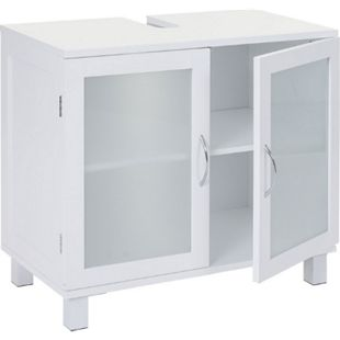 Waschbeckenunterschrank MCW-B42, Badschrank mit Staufach, 60x65x33cm weiß - Bild 1