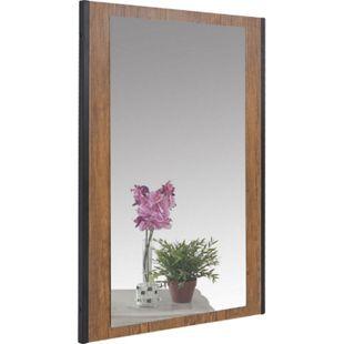 Garderobenspiegel MCW-A27, Wandspiegel Spiegel, 80x54cm 3D-Struktur, Wildeiche-Optik - Bild 1