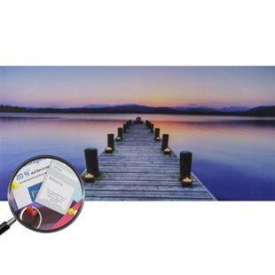 LED-Pinnwand, Leuchtbild Memoboard Pinboard Timer ~ 110x55cm Steg - Bild 1