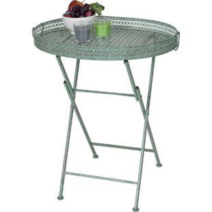 Klapptisch MCW-C39, Gartentisch, klappbar Metall antik-grün - Bild 1