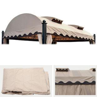 Ersatzbezug 440x340cm für Dach Pergola Pavillon Donana 3,5x4,5m creme - Bild 1