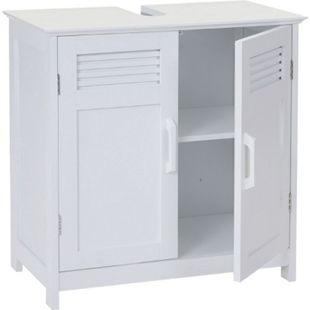 Waschbeckenunterschrank MCW-A85, Badschrank 60x60x30cm ~ weiß - Bild 1