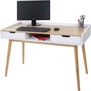 Schreibtisch MCW-A70, Computertisch Bürotisch, 120x55cm MDF Esche-Optik - Bild 1