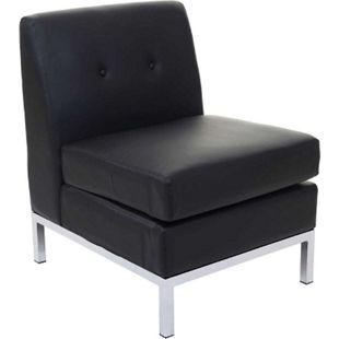 Sessel MCW-C19, Modular Mittelteil ohne Armlehnen, erweiterbar Kunstleder ~ schwarz - Bild 1