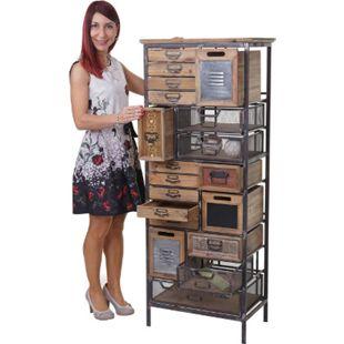 Apotheker-Schrank MCW-A43, Kommode, Tanne Holz massiv Vintage Shabby-Look 143x56x33cm - Bild 1