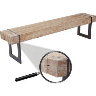 Sitzbank MCW-A15, Esszimmerbank Bank, Tanne Holz rustikal massiv ~ naturfarben 160cm - Bild 1