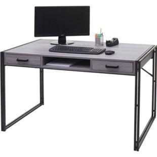 Schreibtisch MCW-A27, Bürotisch Computertisch, 121x70cm 3D-Struktur ~ grau - Bild 1