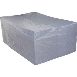 Abdeckhaube Abdeckplane Schutzhülle Schutzplane für Sitzgruppen, grau ~ 75x255x120cm - Bild 1