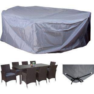 Abdeckplane Abdeckhaube Schutzhülle Schutzplane für Garnituren, grau Ø300cm - Bild 1