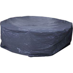 Abdeckplane Abdeckhaube Schutzhülle Schutzplane für Garnituren, anthrazit Ø300cm - Bild 1