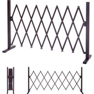 Absperrgitter MCW-B34, Scherengitter Rankhilfe Tierschutzgitter ausziehbar, Alu braun ~ Höhe 103cm, Breite 27-207cm - Bild 1