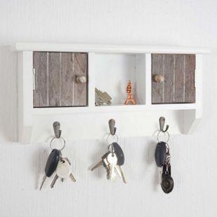 Schlüsselbrett MCW-A48, Schlüsselkasten Schlüsselboard mit Türen, shabby braun - Bild 1