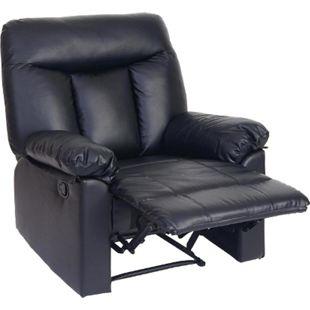Fernsehsessel Toulouse, Relaxsessel Liege Sessel ~ schwarz, Kunstleder - Bild 1