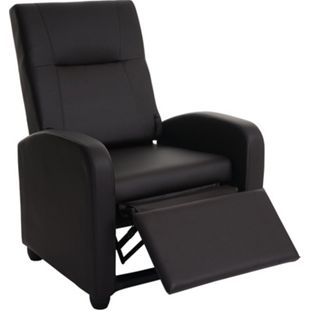 Fernsehsessel Dallas Basic, Relaxsessel Relaxliege Sessel, Kunstleder ~ coffee - Bild 1