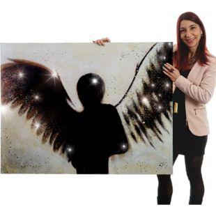 Wandbild Engel, 100% handgemaltes Ölgemälde Gemälde XL, 120x90cm - Bild 1