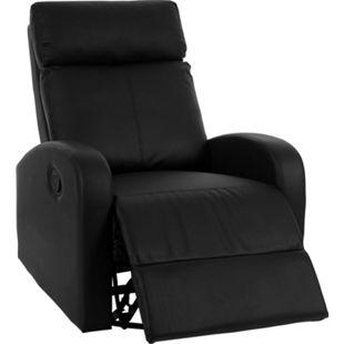 Fernsehsessel MCW-A54 Premium, Relaxsessel Schaukelstuhl Wippfunktion, drehbar Kunstleder ~ schwarz - Bild 1