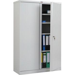 Aktenschrank Valberg H331, Metallschrank Büroschrank Stahlschrank, 2 Türen 140x92x37cm ~ grau - Bild 1