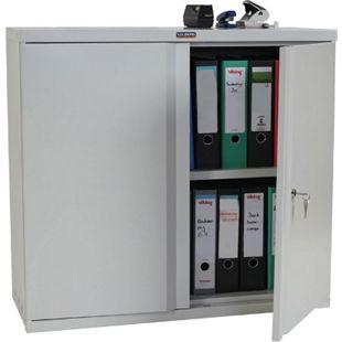 Aktenschrank Valberg H330, Metallschrank Büroschrank Stahlschrank, 2 Türen 84x92x37cm - Bild 1