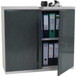 Aktenschrank Valberg H330, Metallschrank Büroschrank Stahlschrank, 2 Türen 84x92x37cm ~ anthrazit - Bild 1