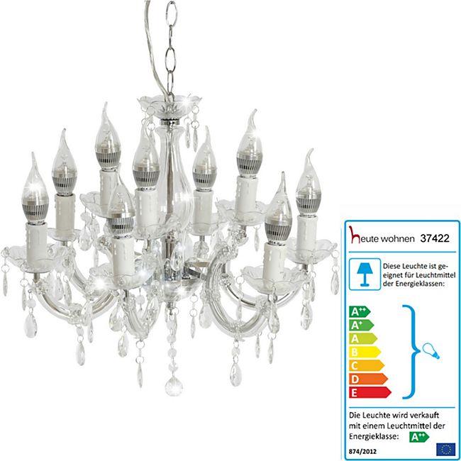 LED-Kronleuchter HW155, Hängeleuchte Lüster, 9-flammig 27W EEK A++ ~ klar - Bild 1