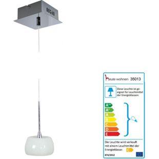 Pendelleuchte HW170, Deckenleuchte Hängeleuchte Deckenlampe, Glasschirm EEK C - Bild 1
