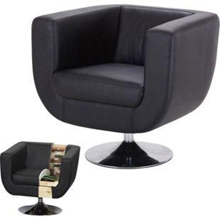 Lounge-Sessel Bar-Sessel Club-Sessel Modena II ~ schwarz - Bild 1