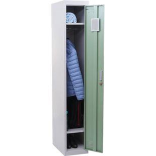 Spind Preston T163, Garderobenschrank Kleiderspind Umkleideschrank, Metall 180x30x50cm nach ASR A4.1 ~ mint-grün - Bild 1