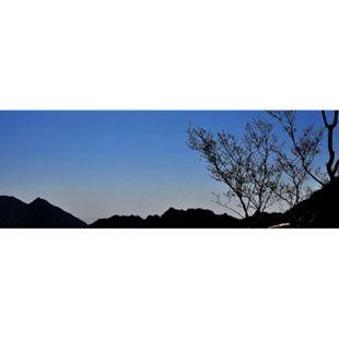 LED-Bild Leinwandbild Wandbild Leuchtbild ~ 100x35cm Sonnenuntergang - Bild 1