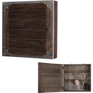 Schlüsselkasten Gabes, Schlüsselschrank Holzbox, Shabby-Look Vintage 27x27x6cm - Bild 1