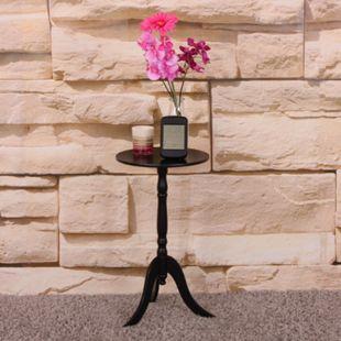 Beistelltisch Telefontisch Zustelltisch Savonlinna, Holz rund ~ schwarz - Bild 1
