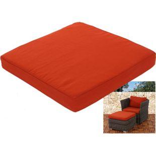 Sitzkissen für Poly-Rattan Sofa Sevilla, modulare Gastronomie-Qualität ~ bordeaux - Bild 1