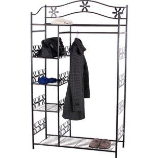 Metall-Garderobe Bern, Garderobenständer Kleiderschrank Metallregal 172x100x43cm ~ ohne Vorhang - Bild 1