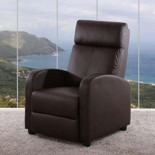 Fernsehsessel Relaxsessel Liege Sessel Dallas, Kunstleder - Bild 1