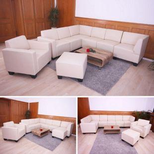 Couch-Garnitur Moncalieri 6-1-1 ~ creme - Bild 1