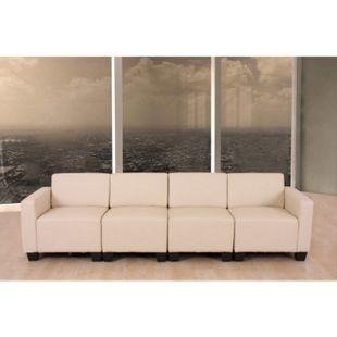 Modular 4-Sitzer Sofa Moncalieri ~ creme - Bild 1