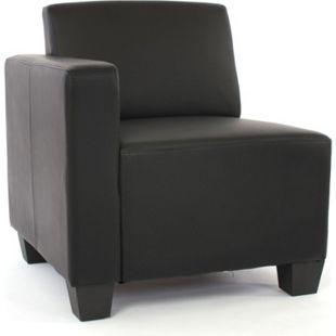 Modular Seitenteil links, Sessel mit Armlehne Moncalieri, Kunstleder ~ schwarz - Bild 1