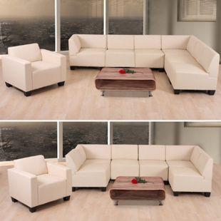 Couch-Garnitur Moncalieri 6-1 ~ creme - Bild 1