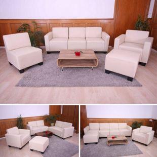 Couch-Garnitur Moncalieri 3-1-1-1 ~ creme - Bild 1