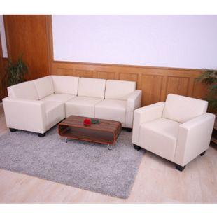 Couch-Garnitur Moncalieri 4-1 ~ creme - Bild 1