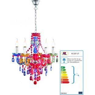 Reality Acryl Tarent Kronleuchter 5-flammig ~ multicolor - Bild 1