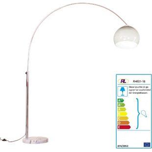 Reality Trio Bogenlampe Benevent, Höhe: 2,06m, Schirm: 40cm ~ braun-durchsichtig - Bild 1