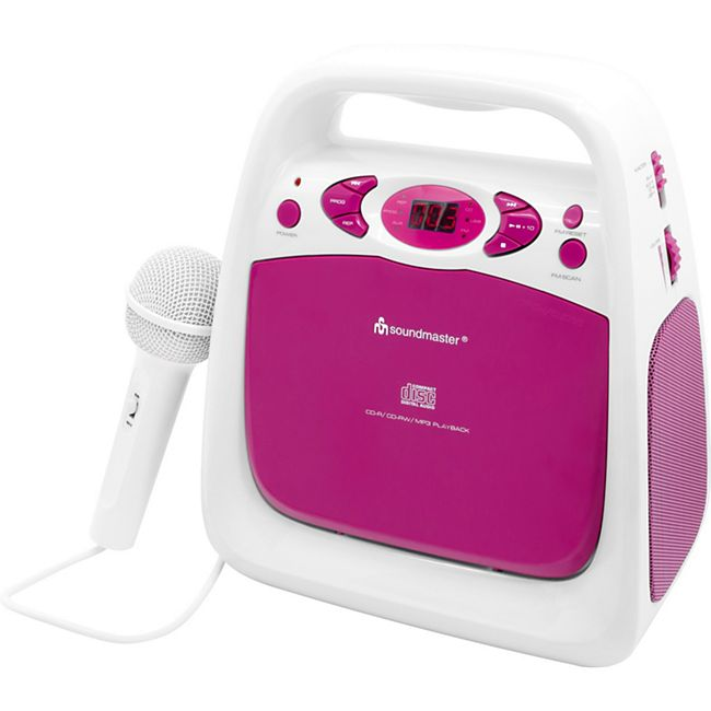 Soundmaster KCD50PI Kinder Radio CD Player mit Mikrofon - Bild 1