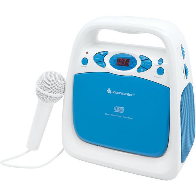 Soundmaster KCD50BL Kinder Radio CD Player mit Mikrofon - Bild 1