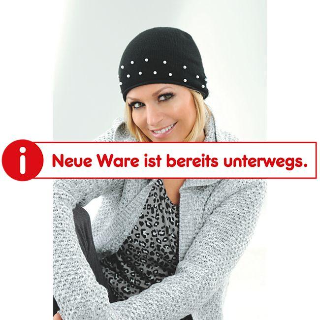 Damen Mütze - Schwarz mit Perlen - Bild 1