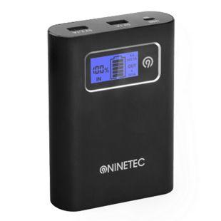 NINETEC PowerDrive 13.400 mAh Power Bank mit integriertem 32 GB USB Speicher, schwarz - Bild 1
