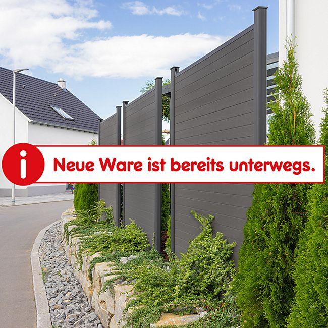Home Deluxe WPC-Sichtschutzzaun V2 - 4 x Element + 5 x Pfosten - Bild 1