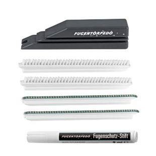 Fugentorpedo Reinigungswerkzeug Set XL 6-tlg. grau - Bild 1