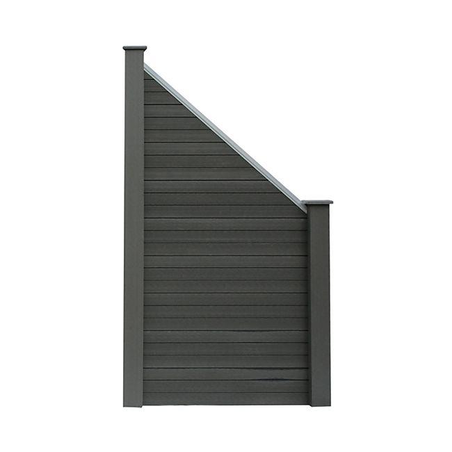 Home Deluxe WPC-Sichtschutzzaun V2 Schrägelement - Bild 1